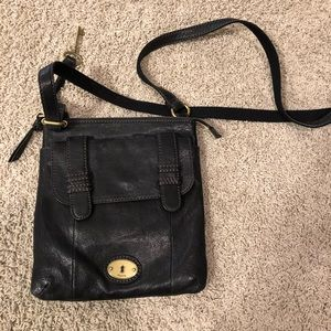 Black Fossil Sling Bag